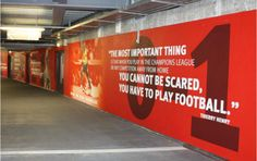 Principle supplied large-scale graphics for Arsenal's Emirates Stadium.