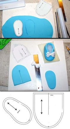 Baby Shoe Step-by-step by Verusca on deviantARTBaby shoe fondant template design tutorial how toOne PDF File Template for cutting the cake and the fondant pieces to make this Louis Vuitton Handbag Cake.Would make as felt baby shoes, not trinket. Fondant Toppers, Fondant Cakes, Cupcake Cakes, Fondant Bow, 3d Cakes, Fondant Flowers, Shoe Cakes, Pink Cakes, Cupcake Toppers