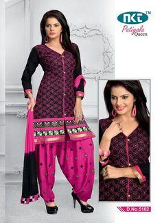 Patiyala Queen Vol-2 Cambric Cotton with Chiffon Dupatta  (4 pc Catalog)