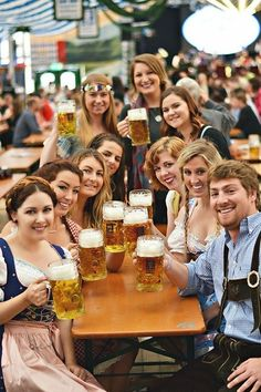 This festival held in Munich that is one of the Germany's biggest and most popular cities to visit. Usually the oldest building is some religious buildings or something related but here in Munich, it is a bathroom. Oktoberfest Beer, German Oktoberfest, Beer Maid, Beer Girl, Free Beer, Munich Germany, Beer Festival, Old Building, Wine And Beer