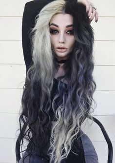 Image result for goth hair colours