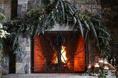 Eloping at the Lodge Lake Placid Lodge, Renaissance, Bon Fire, Cozy Fireplace, Lodge Wedding, Fireplaces, Floral Design, Lavender, Rustic