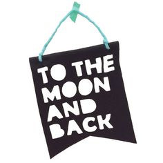 "Bannière ""To the Moon and Back"" - Noir Homely Creatures chez Rose & Milk"