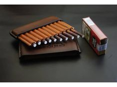 Cigarette case made of genuine leather. Exclusive leather cigarette case for cigarillos Captain Black is an excellent smoking accessory that will be a good gift for true lovers of quality cigarillos. A cigarette-case made of genuine leather of vegetable tanning. A cigarette-case is