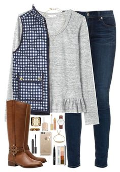 """""""I like my bed more than I like most people."""" by kaley-ii ❤ liked on Polyvore featuring rag & bone, Rebecca Taylor, J.Crew, Tory Burch, Kate Spade, Daniel Wellington, AERIN, Casetify, MAC Cosmetics and Clinique"""