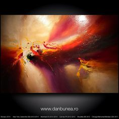 """Very large abstract painting by Dan Bunea: """"Never give up"""", 150x100cm or…"""