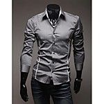 Men's Fashion Plaid Slim Long Sleeved Shirt 2017 - $13.99