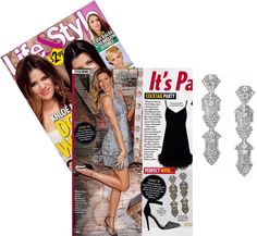 The Casablanca Chandeliers complete any outfit – and can be worn as studs or statements. Life & Style Weekly loves them for a cocktail party look.