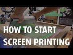 How to start Screen Printing, screenprinting, silk screen, printmaking Screen Printing Shirts, Printed Shirts, Screen Printing Paper, Silkscreen, Start Screen, To Go, Screen Design, Fabric Painting, Wood Print