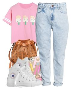"""""""8 17 15"""" by miizz-starburst ❤ liked on Polyvore featuring MCM, Casetify, H&M and Converse"""
