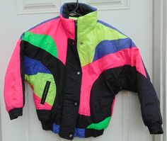 b7b2c5542c Ski Jacket Childrens  Youth Size 6 7 by MY2NDJOB on Etsy Vintage Outfits