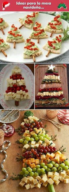 Platos salados para la mesa navideña. Comidad para Navidad. Ideas para la mesa navideña.