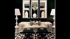 Living room decor, black and white