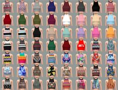 My Sims 4 Blog: Halter Tops, Shorts with Feather Belt, Hoodie and ...