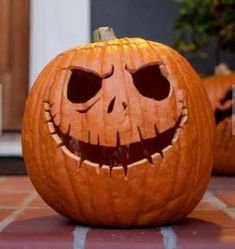 cool take on a classic jack o lantern will suit both adults' and kids' Halloween parties