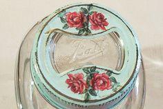 regular mouth vintage upcycled canning fruit jar by sparkklejar