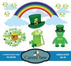 St.Patrick's day clipart, Saint Patricks Day Clip Art, St Patty Day Digital Clip Art for Scrapbooking SAJ-230