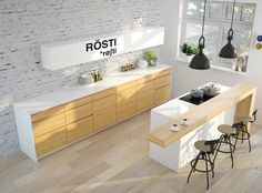 Loftex wooden look vinyl flooring is the perfect choice for your modern kitchen. This flooring is traffic resistant and. Bathroom Interior, Flooring, Kitchen Interior Design Modern, Kitchen Flooring, Contemporary Kitchen, Kitchen Remodel, Small Kitchen, Home Kitchens, Kitchen