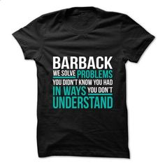 BARBACK - Solve Problems - t shirt maker #college hoodie #oversized sweater