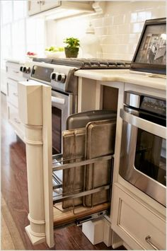 Kitchen storage................Install a Narrow Rack In Any Small Space…