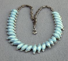 Blue Thermoset Choker Necklace Vintage by HighClassHighway on Etsy