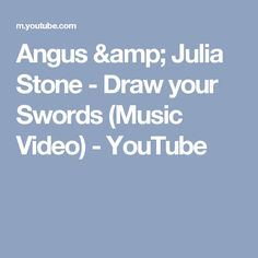 Angus & Julia Stone - Draw your Swords (Music Video) - YouTube