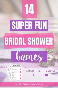 These bridal shower game ideas will inspire you to plan the best bridal shower ever! Bridal Shower Games Easy, Wedding Shower Games, My Bridal Shower, Bridal Shower Activities, Bridal Shower Decorations, Bridal Showers, Baby Shower, Wedding Planning On A Budget, Party Planning