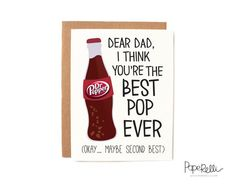 Funny Father's Day Card  Best Pop Ever by Paperelli on Etsy