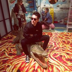 Dan Smith riding a crocodile. Cause why the fuck not