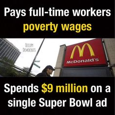 Maybe the full time workers should seek a better paying job. Burgers can't be flipped without employees. McDonald's would then have to raise their rate of pay to attract employees. However, if the employees are not smart enough to figure this out, maybe they're getting paid what they're worth... They accepted the job at that rate of pay. It's on them, not McDonald's...