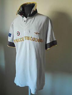 Maglia Polo Aeronautica Militare Shirt Frecce Tricolori Trikot Maillot Tg. XL