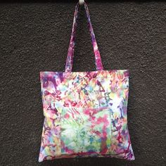 35be9d1ff3 Multi Color Tie Dye Tote Bag. 100% Cotton Canvas. Hand Dyed Beach Bag