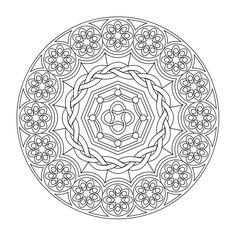 Star Mandala Picture to Color Star Mandala coloring Pages