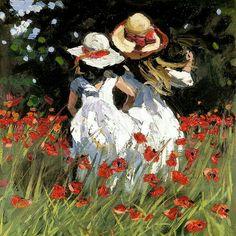 I love the work of this British artist working in Modern Impressionism. Modern Impressionism, Impressionist Art, Henri Rousseau, Henri Matisse, Paul Gauguin, Japanese Prints, Flower Of Life, French Artists, Vincent Van Gogh