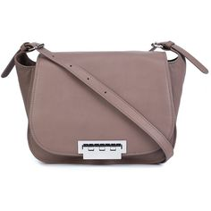 Zac Zac Posen Eartha Saddle Crossbody Bag (5.915 ARS) ❤ liked on Polyvore featuring bags, handbags, shoulder bags, brown, brown leather purse, leather shoulder bag, leather shoulder handbags, leather cross body purse and brown purse