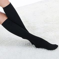 Pair of Hot Sale Solid Color Design Cotton Stockings For Women, COLOR ASSORTED in Hosiery | DressLily.com