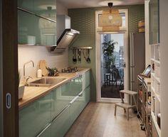 Cuisine fermée : nos arguments pour la préférer Kitchen Room Design, Kitchen Cabinet Design, Modern Kitchen Design, Kitchen Layout, Home Decor Kitchen, Interior Design Kitchen, Kitchen Furniture, Home Kitchens, Kitchen Ideas