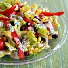 Weight Watchers Santa Fe Salad with Chili-Lime Dressing