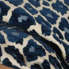 Simba Navy Blue Chenille Upholstery Fabric $26.99 per yard