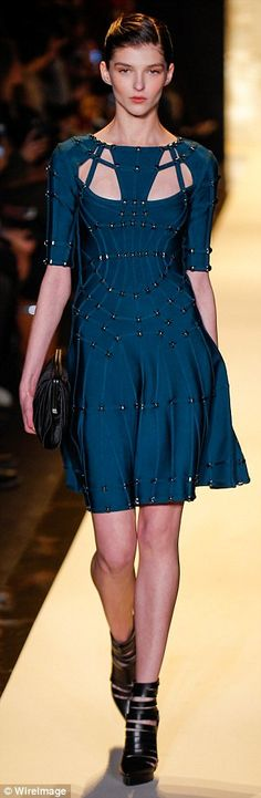 Herve Leger Fall 2015 at New York Fashion Week...
