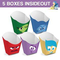 5 Popcorn Box Inside Out  - Caja Palomitas Intensamente