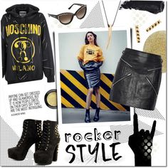 How To Wear #rockerchic Outfit Idea 2017 - Fashion Trends Ready To Wear For Plus Size, Curvy Women Over 20, 30, 40, 50