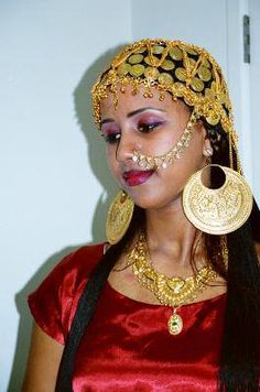 Traditional Sudanese bride.