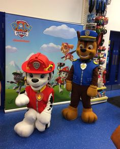 Chase and Marshall have popped into our #Longbridge store today for a visit dont forget to stop by before 3.30 to meet them!  #pawpatrol #chase #marshall #weekendfun #familyfun #christmas #IfIWereAToy #heyletsplay #Smyths #smythstoys #smythstoyssuperstores