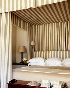 Laura & Harry Slatkin's Palm Beach Home :: Bedding by E. Braun & Co.