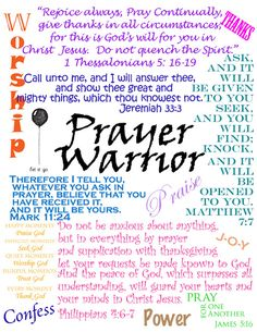 Start a Prayer Warrior Group!Meet weekly or monthly-Everyone brings a prayer concern to give to the Lord. Pray together for each. Keep a group journal of your prayers to see how they were answered. Prayer Closet, Prayer Room, Prayer Wall, Bible Prayers, Bible Scriptures, Spiritual Prayers, Bible Notes, Scripture Quotes, Power Of Prayer