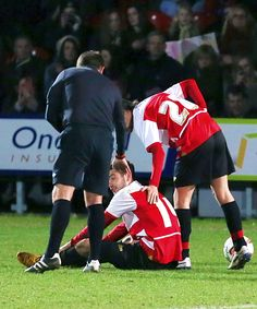 Aww. Louis making sure his teammate is okay after falling.