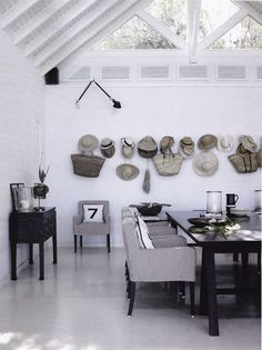 27/ Baskets & hats wall | Image via http://mustaovi.blogspot.co.uk/