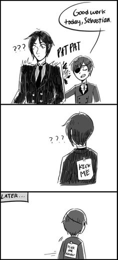 Uploaded by Find images and videos about anime, lol and black butler on We Heart It - the app to get lost in what you love. Black Butler Ciel, Black Butler Comics, Black Butler Funny, Black Butler Sebastian, Black Butler Kuroshitsuji, Ciel E, Sebastian X Ciel, Ciel Phantomhive, Yuri!!! On Ice