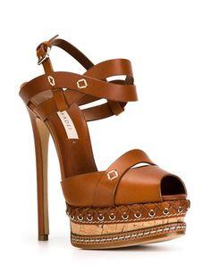 Casadei peep toe stiletto sandals in 2020 Peep Toe Shoes, Stiletto Shoes, High Heels Stilettos, Cognac Sandals, Sexy Sandals, Shoes Sandals, Brown Leather Sandals, Brown Sandals, Fashion Heels